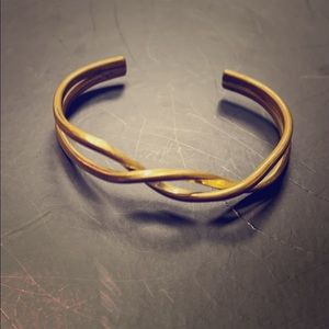 Sergio Lub California Brass Twist Twisted Cuff